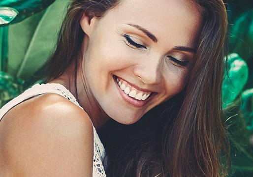 Woman with beautiful smile